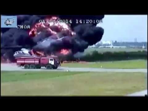 Как горят вертолеты