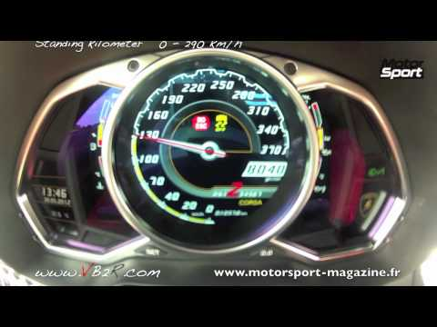 accelerazione 0-290 km/h lamborghini aventador lp 700-4