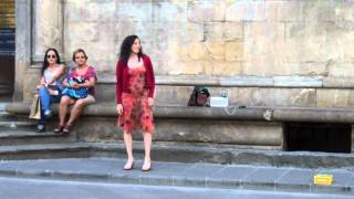 More street opera in Florence, Italy