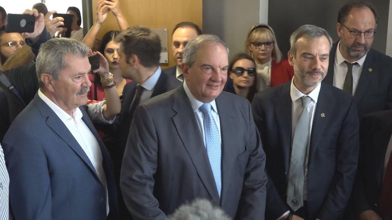 Συνάντηση του πρώην πρωθυπουργού Κ. Καραμανλή με τον δήμαρχο Κ. Ζέρβα