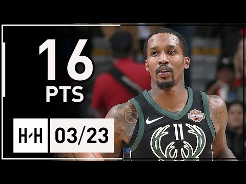 Brandon Jennings Full Highlights Bucks vs Bulls (2018.03.23) - 16 Points, 5 Ast off the Bench