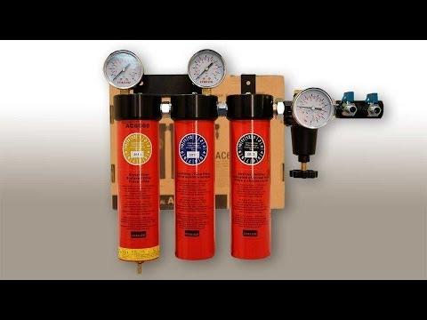 Подготовка воздуха для работы с краскопультом. ITALCO 99.998%