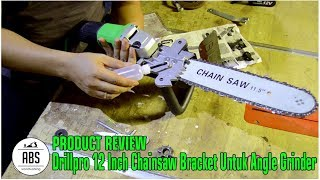 6. Review Drillpro 12 Inch Chainsaw Bracket Untuk Angle Grinder Indonesia