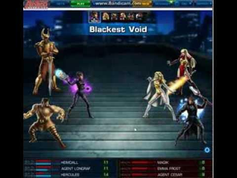 Marvel Avengers Alliance PVP 12 Day 1 Heimdall+Hercules vs Magika+Emma