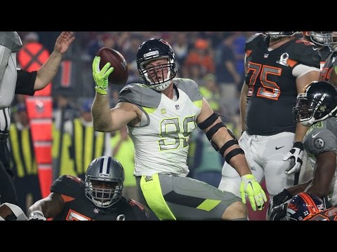 the pro - The 2015 Pro Bowl goes down to the wire, as Team Irvin holds on for a 32-28 victory over Team Carter.