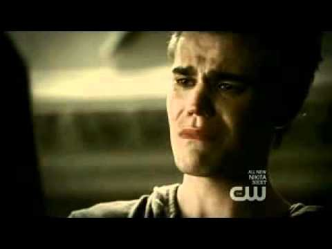 "the vampire diaries - stefan and elena BREAK UP! ""it's over"" scene 2x06"