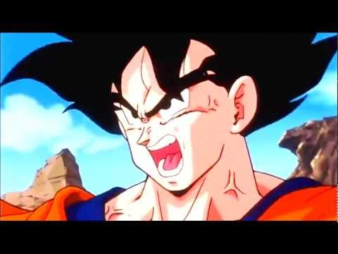 DBZ Goku Turns Super Saiyan In Front the Androids