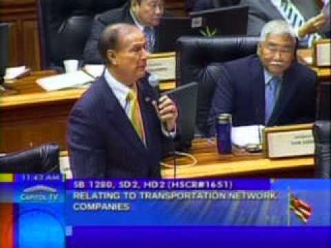 Reps. Fukumoto Chang and Ward address SB  1280 Transportation Network Companies