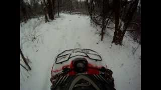 6. Arctic Cat 350 in the snow go pro hero hd