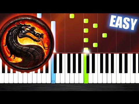 Mortal Kombat Theme - EASY Piano Tutorial by PlutaX