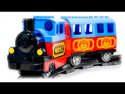 VIDEO FOR CHILDREN - «My First Train Set» LEGO Duplo 10507, Toy Railway with Train.