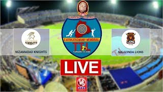 Nalgonda Lions vs Nizamabad Knights LIVE Cricket Match