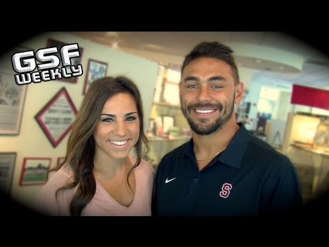Gaffney - GetSportsFocus.com - GSF Weekly host Angela Santoro goes one on one with Stanford RB Tyler Gaffney. Coming off a big opening season win over SJSU, Tyler took...