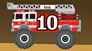 Monster Trucks Fire Trucks Teach Kids Counting & Numbers Preschool Educational Video for Toddlers by Organic Learning.  Please take a moment to LIKE our video, SHARE it with family & friends, and SUBSCRIBE to our Organic Learning channel… Your help and support are greatly appreciated!  Subscribe to our YouTube Channel:  http://www.youtube.com/subscription_center?add_user=OrganicLearning Follow us on Twitter:  https://twitter.com/OrganicLearningFollow us on Instagram:  https://instagram.com/OrganicLearningOfficial Website:  https://OrganicLearning.com - Fun Toy Giveways, Coloring Downloads, & More.Fan Mail - If you would like us to feature your letter or car/truck drawing in a future episode, please send them to (email) FanMail@OrganicLearning.com or (snail mail) Organic Learning, 2355 Westwood Blvd. #321, Los Angeles, CA 90064 USA.  NOTE:  If you are under the age of 18, please get your parent or guardian's permission before sending fan mail or fan email as it may be shared publicly on our website, social media pages, and in our YouTube videos. Full names and addresses will never be shared.This fun, educational, early learning video features animated Monster Trucks or Monster Fire Trucks teach kids about numbers and counting 1 to 10. If you like monster trucks, be sure to check out our popular family-friendly Blaze and the Monster Machines Downhill Racing Video for Children & Toddlers:  https://youtu.be/CY_ikxlGLdYHave fun learning about more cars, trucks, street vehicles, and monster trucks as we continue our series of fun kid-friendly street vehicles videos for kids!Official Merchandise:  http://organiclearning.spreadshirt.com/Link to Share this video: https://youtu.be/xpkNl0E-l8kOrganic Learning Playlists & Videos:Learning Street Vehicles for Kids (50 Mins) Cars and Trucks by Hot Wheels, Matchbox, Tomica, Siku:https://youtu.be/_rLz4DIfBnMLearning Street Vehicles for Kids (44 Mins) Cars and Trucks - Hot Wheels Matchbox Tomica Disney Tayo:https://youtu.be/NONKAr8HE