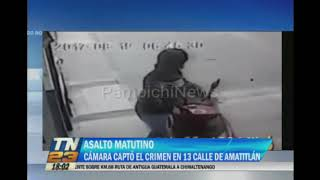En horas de la mañana ocurrió un asalto en Amatitlán, llevado a cabo por dos hombres que se transportaban en motocicleta. El hecho violento ocurrió en Amatitlán