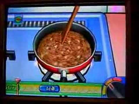 Wii Cooking Mama Gameplay: Lasagna