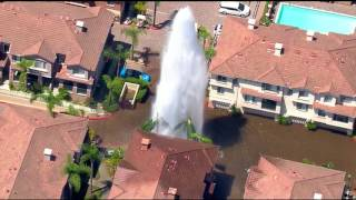 Broken Mission Valley fire hydrant floods apartment complex