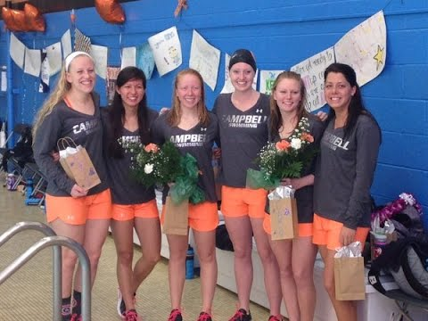 Campbell Swimming - Senior Day