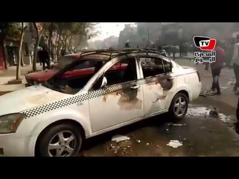 ذكرى ثورة ٢٥ يناير الرابعة| الإخوان يقطعون الطريق ويشعلون النيران في المطرية