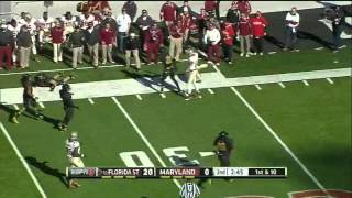 Kenny Tate vs Florida State (2012)