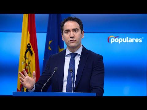 Teodoro García Egea interviene tras la reunión con...