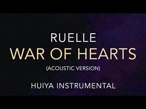 [Instrumental/karaoke] Ruelle - War Of Hearts (Acoustic) [+Lyrics]