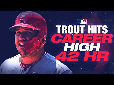Video: Trout's career-high 42nd HR