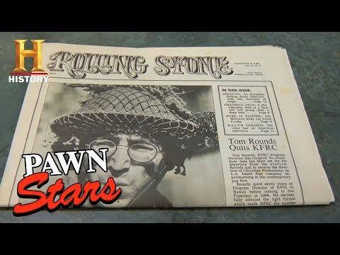 Pawn Stars: Rolling Stone Magazine Issue #1   History