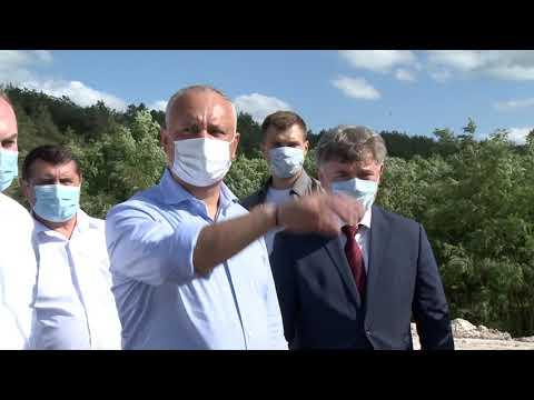 Președintele țării a inspectat lucrările de construcție a podului din raionul Florești