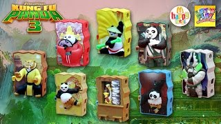 2016 Kung Fu Panda 3 McDonald's Happy Meal Complete Set of 8 Toys