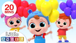 Video Balloon Song | Let's Kart Race! | Nursery Rhymes by Little Angel MP3, 3GP, MP4, WEBM, AVI, FLV Maret 2019