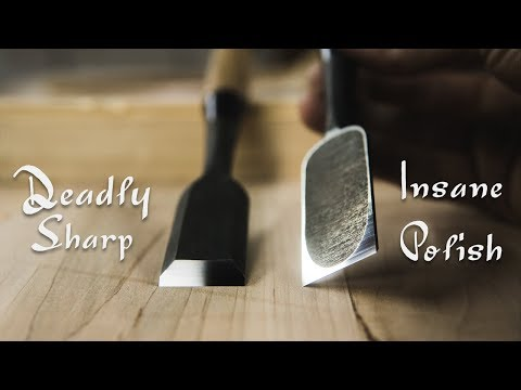 How To SHARPEN A New JAPANESE CHISEL - (SUPER POLISHED & DEADLY SHARP!)