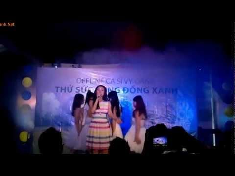 """Vy Oanh hát ca khúc """"Đồng xanh"""" trong offline """"Thử sức cùng Đồng Xanh"""""""