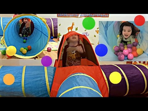 Video Learning Colors with Coloured Balls, Playing In a Play Tent - Fun Video For Kids Toddlers and Babies download in MP3, 3GP, MP4, WEBM, AVI, FLV January 2017