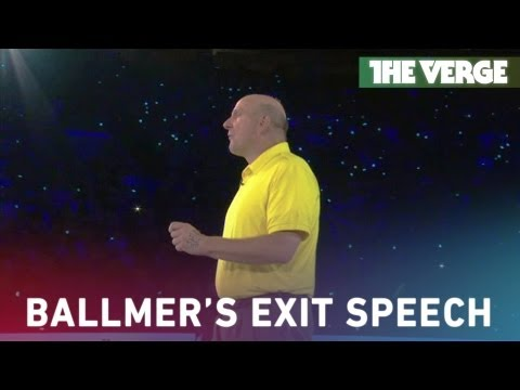 MICROSOFT - Outgoing Microsoft CEO Steve Ballmer has always been a speaker and performer like no other — his absolute enthusiasm for his company is electric in person, t...