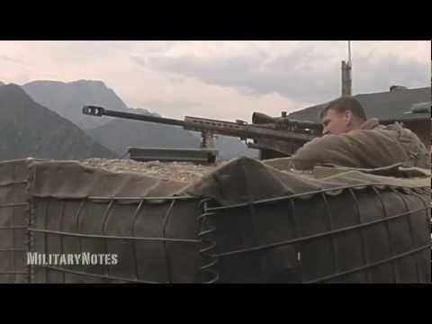 barrett - More videos at http://youtube.com/user/MilitaryNotes) U.S. Sniper creating as much standoff distance as possible with the Barrett M107 SASR Sniper Rifle loa...