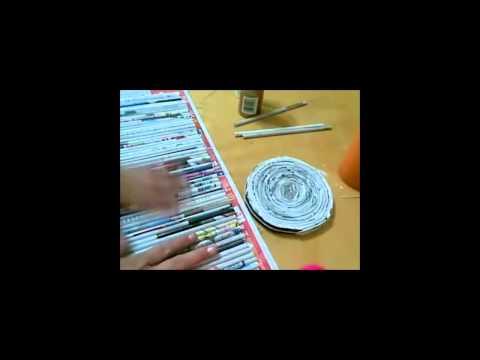 .:Recliclando:. Bote de Periodico / Como hacerlo