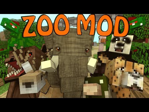 Minecraft | CRAZY ZOO ANIMALS MOD Showcase! (Mobs Mod, Crazy Zoo Animals, Zoo Mod)