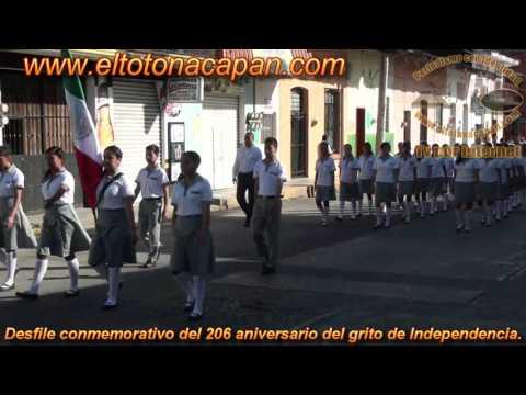 Desfile conmemorativo del 206 aniversario del grito de Independencia