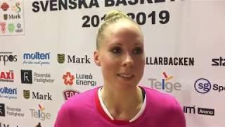 Agnes Nordström efter förlusten i Huskvarna