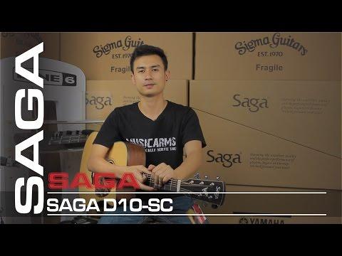 Đàn Guitar Acoustic Saga D10SC