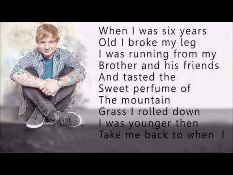 Ed sheeran-Castle on the hill (lyrics) (видео)