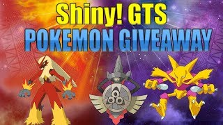 Pokemon Ultra Sun and Ultra Moon Shiny Pokemon Giveaway gts and reverse gts SHINY FREE GIVEAWAY