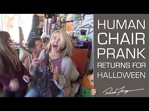 scare - PLEASE SHARE, Like and Comment on our video! The Human Chair Prank strikes again, Halloween style. We have a lot more coming for you! Subscribe: http://bit.l...