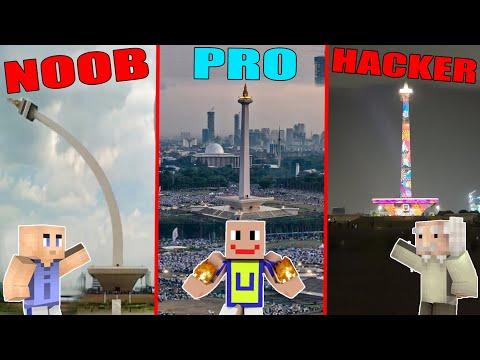 MINECRAFT: NOOB VS PRO VS HACKER - TUGU MONAS