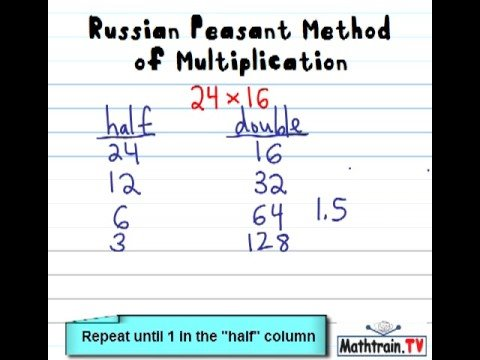 Russian Peasant Methode der Multiplikation