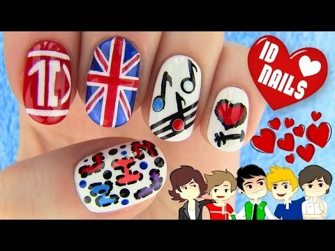 Nail - Get ready for One Direction nails! In this nail art I show how to create 1D nails. I made 5 different nail art designs that are connected with One direction ...