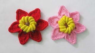 Crochet || Tutorial Bunga Rajut - Flower Crochet || 002