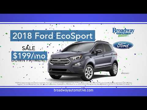 $0 Down Payment Offers @ Broadway Ford! May 2018