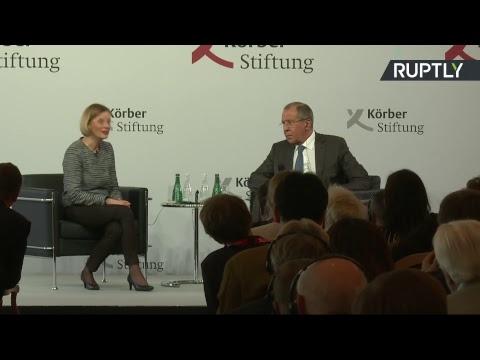 Сергей Лавров выступает в фонде имени Карла Кёрбера перед политологическим сообществом Германии - DomaVideo.Ru